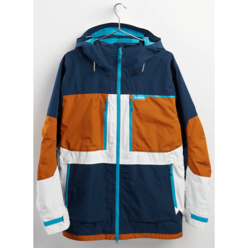 Burton Frostner Jacket Mens - Dress Blue/True Penny/Stout White
