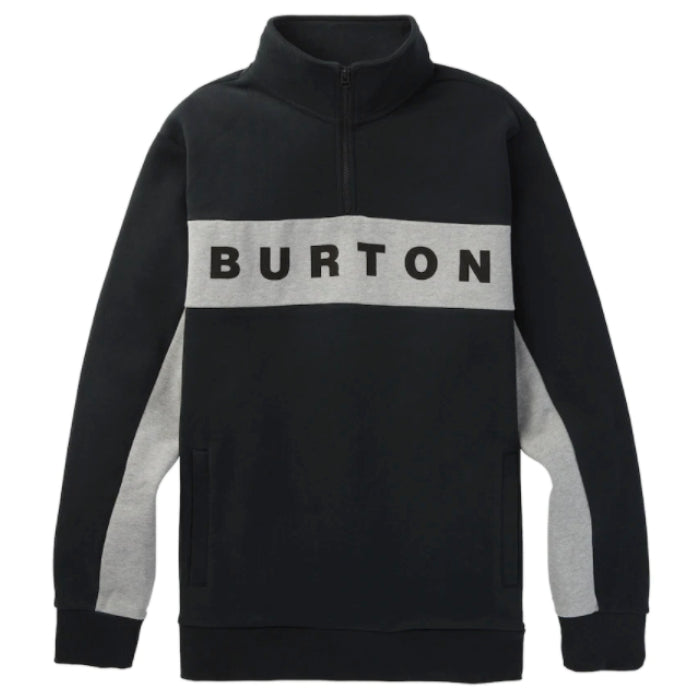 Burton Lowball 1/4 Zip L/S Tee Mens - True Black