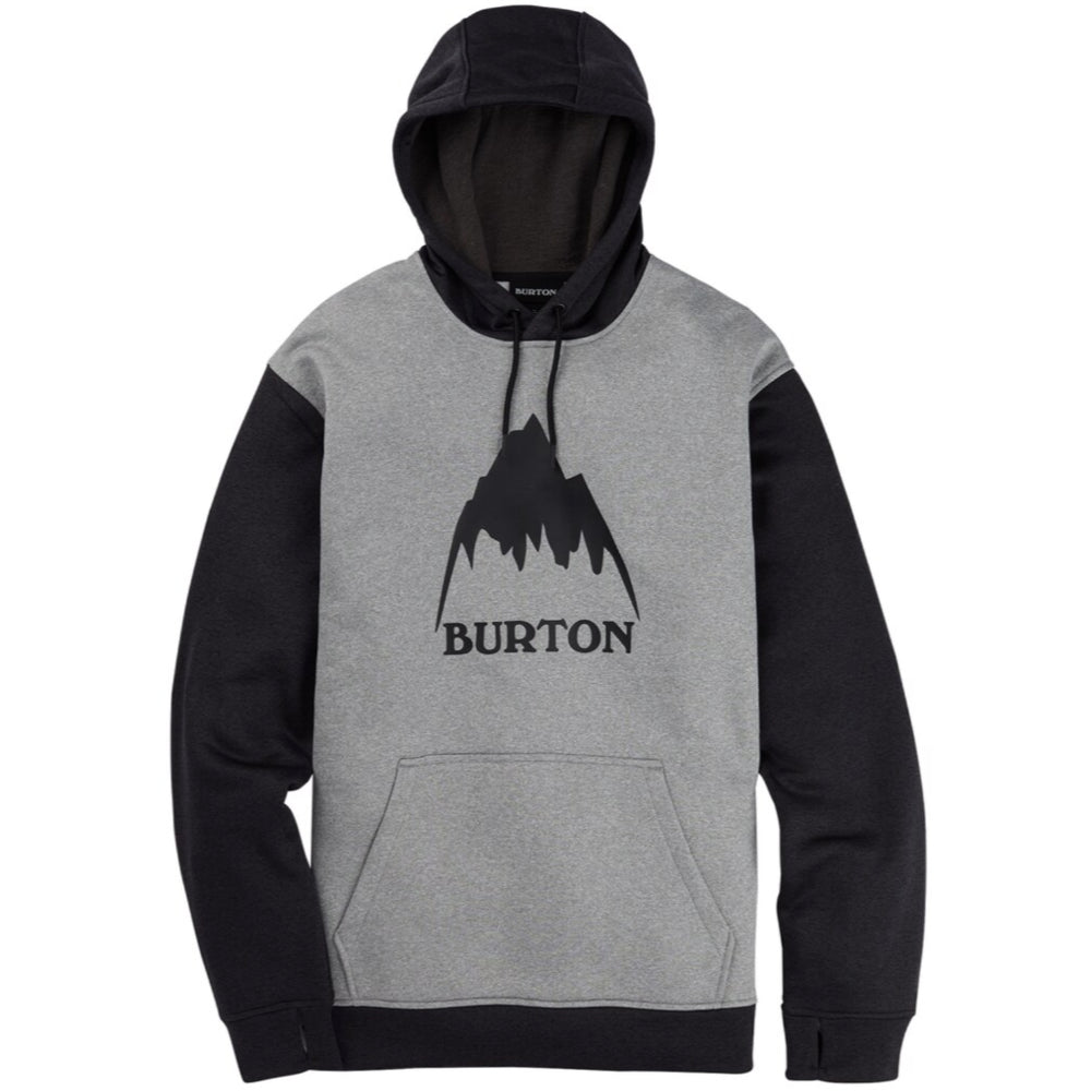 Burton Oak Pullover Hoodie Mens - Grey Heather/True Black