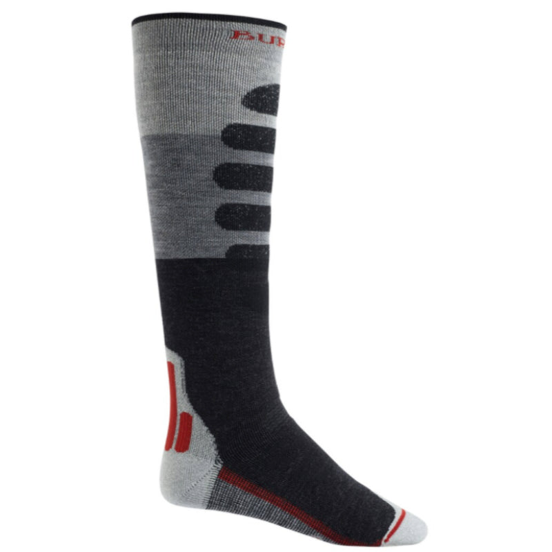 Burton Performance Midweight Socks Mens - Gray Heather Block