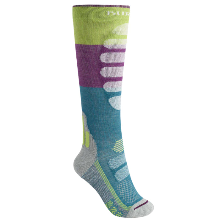 Burton Performance Midweight Socks Womens - Green Blue Slate