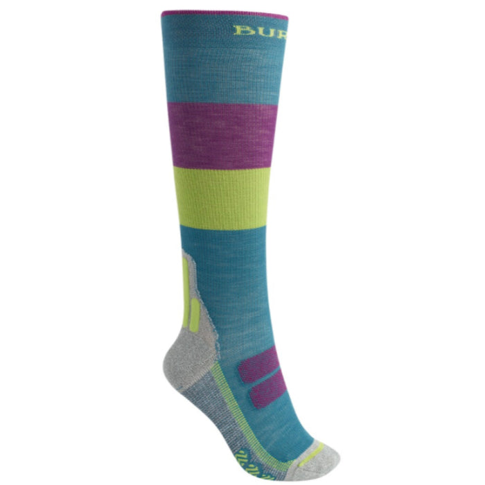 Burton Performance Ultralight Compression Socks Womens - Green Blue Slate