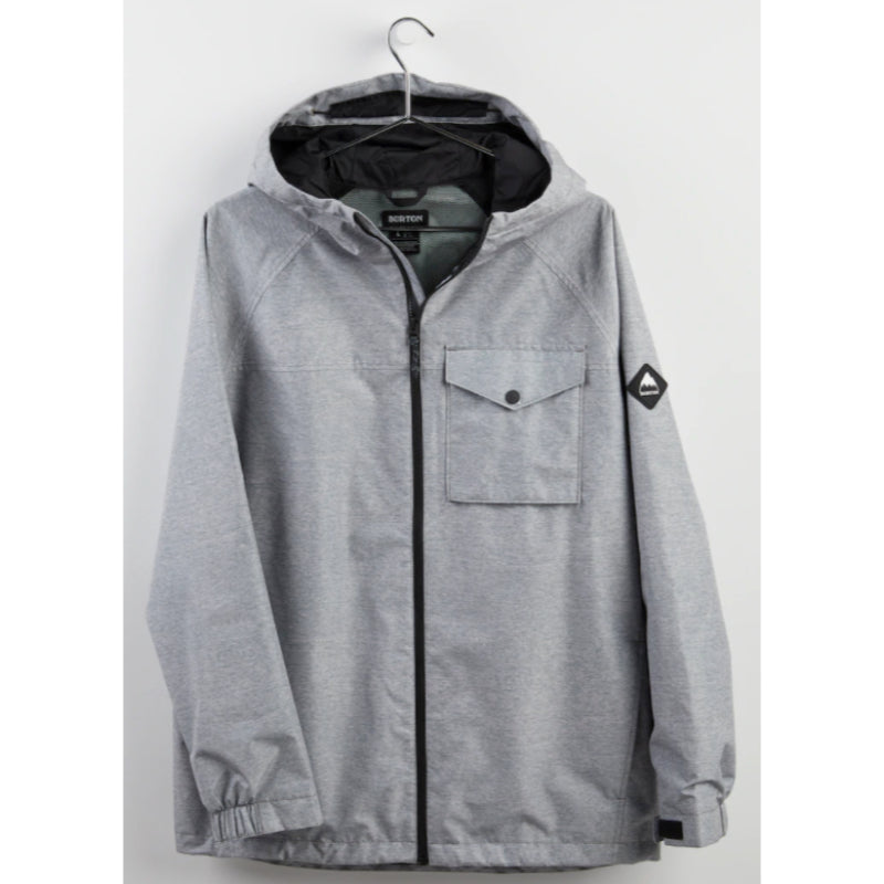 Burton Portal Jacket Mens - Gray Heather