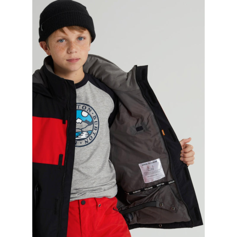 Burton Symbol Jacket Boys - True Black / Flame Scarlet