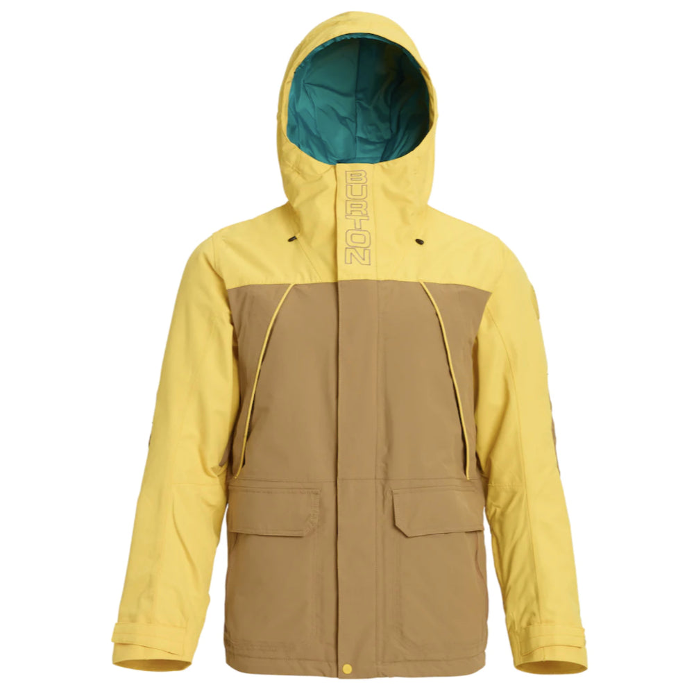 Burton Breach Jacket Mens - Kelp/Maize