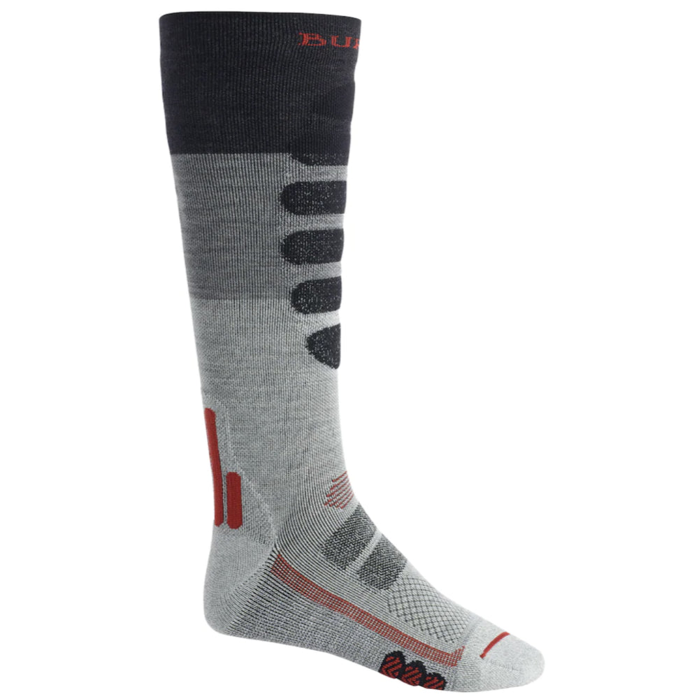 Burton Performance Lightweight Socks Mens - Gray Heather Block