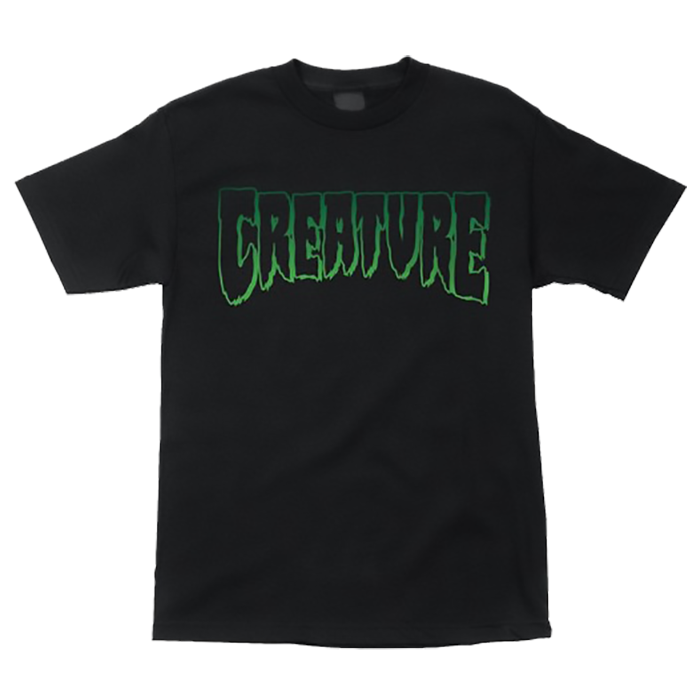 Creature Logo Outline S/S Tee - Black