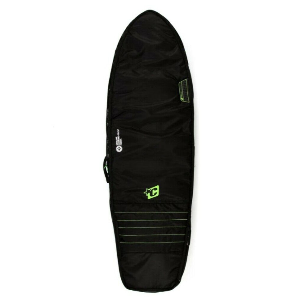 Creatures 6ft 3 Fish Double Surfbag - Black/Lime