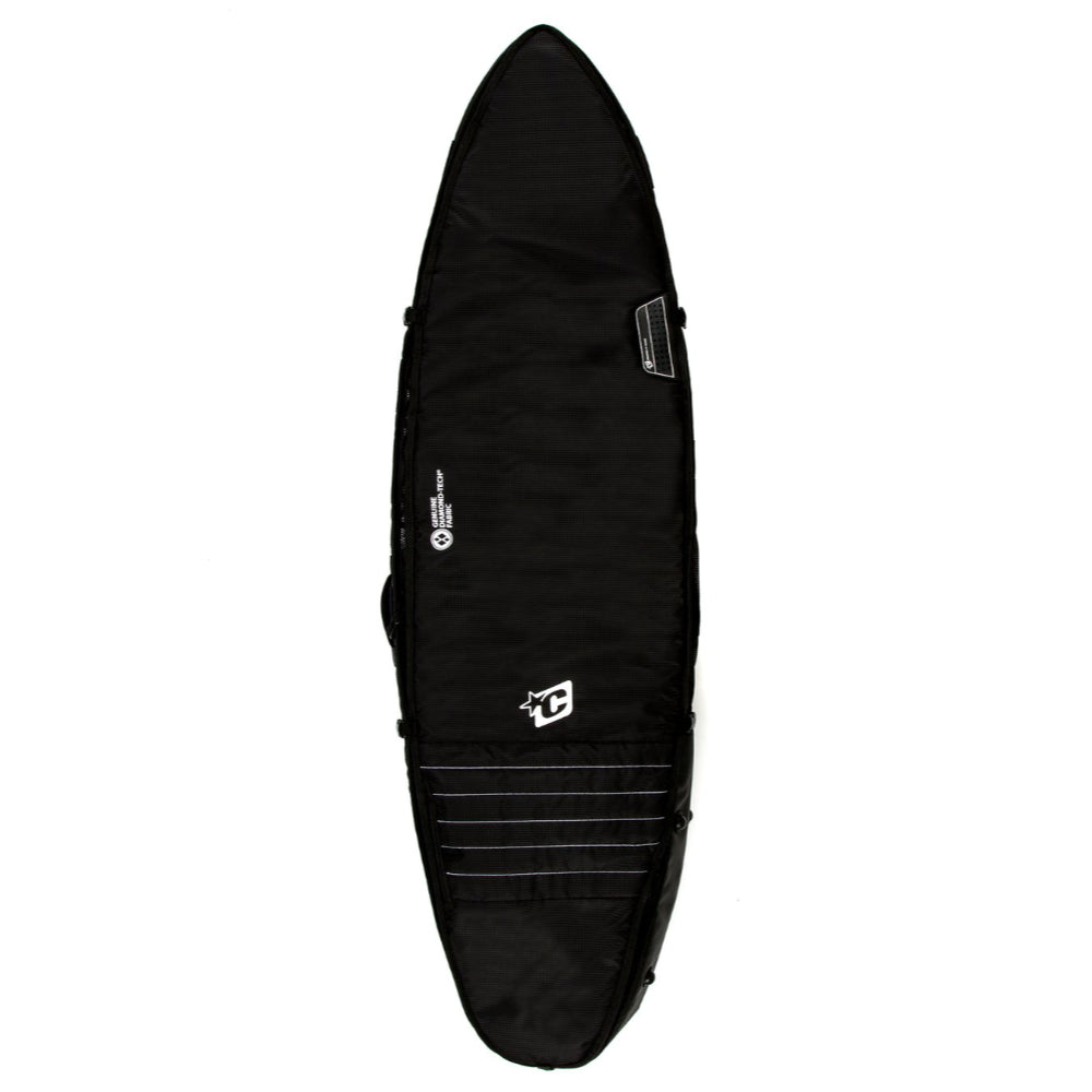 Creatures 6ft 3 Shortboard Triple Surfbag - Black/White