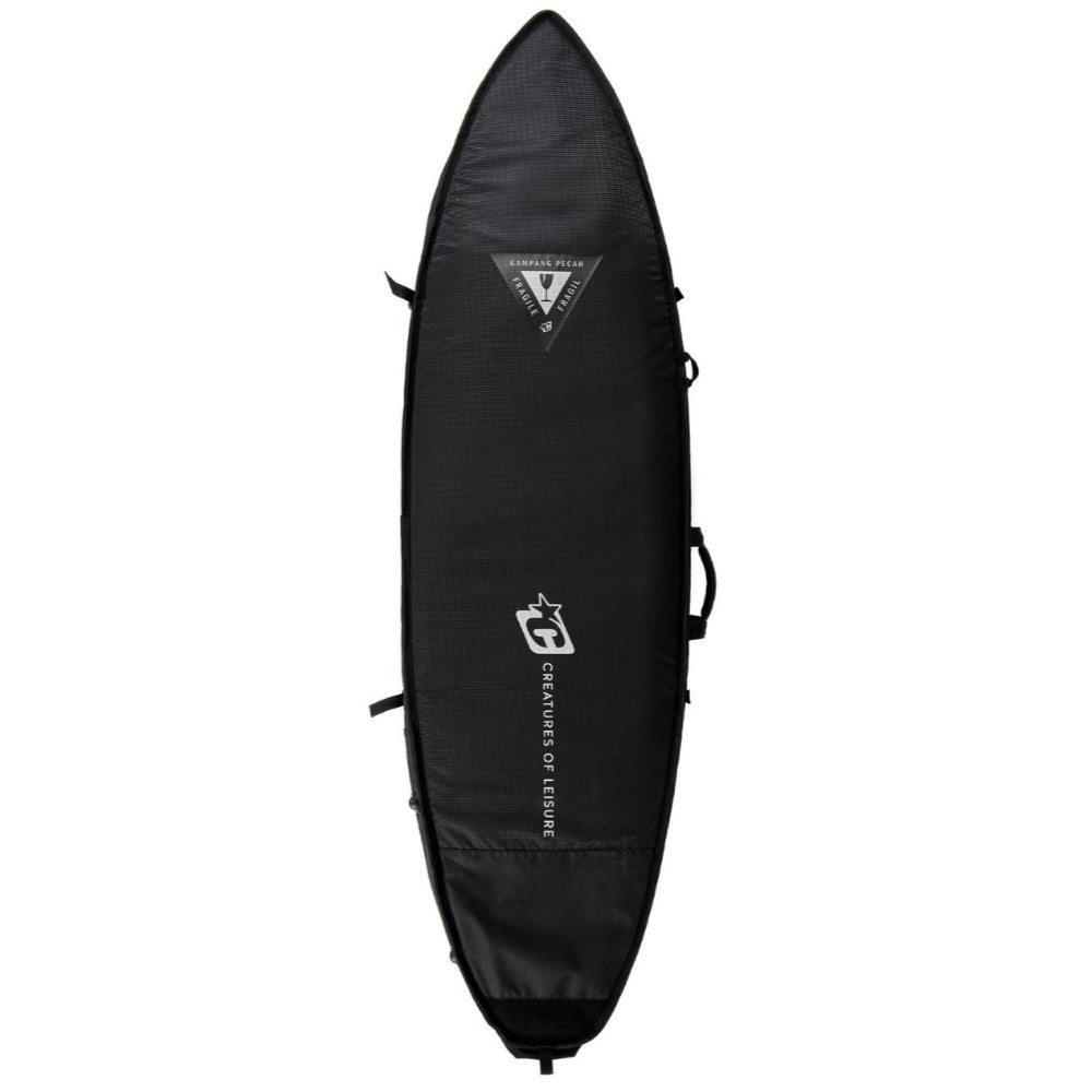Creatures 6ft 7 Shortboard Triple DT2.0 Surfbag - Black Silver