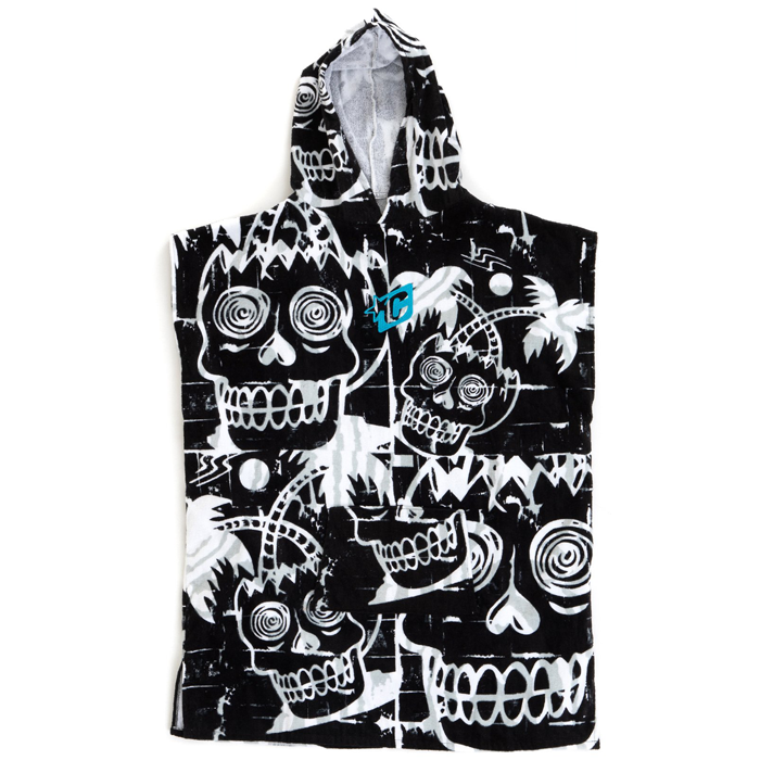 Creatures Grom Poncho Towel - Black White