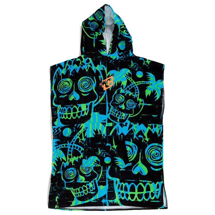 Creatures Grom Poncho Towel - Cyan Green