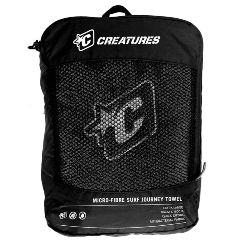 Creatures Journey Towel - Charcoal