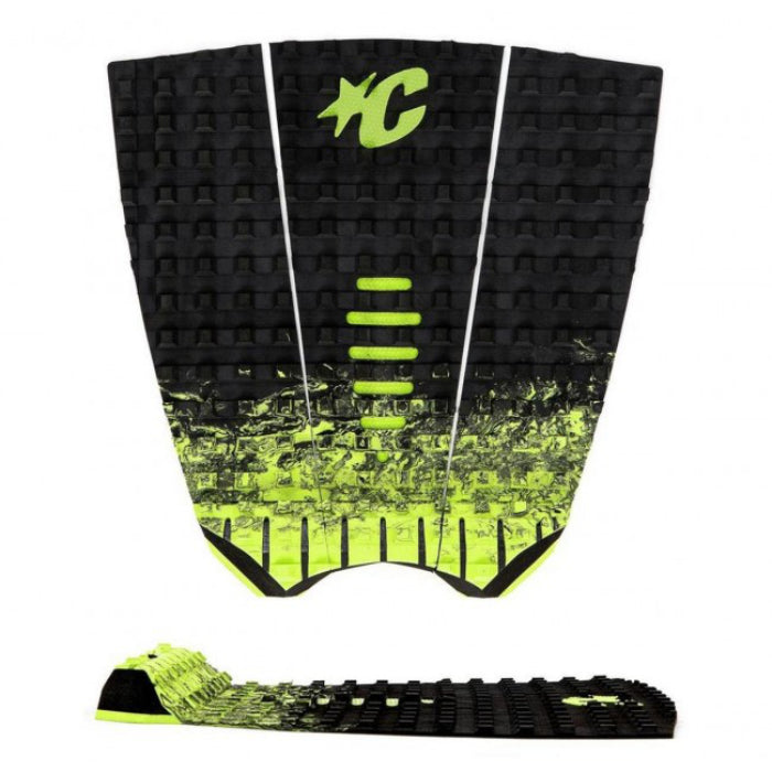 Creatures Mick Fanning Pad - Black Fade Lime