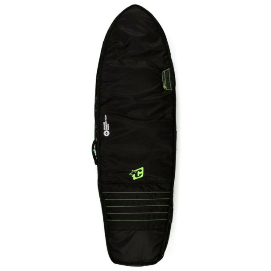 Creatures Shortboard Double Cover 6ft 3 - Black/Lime