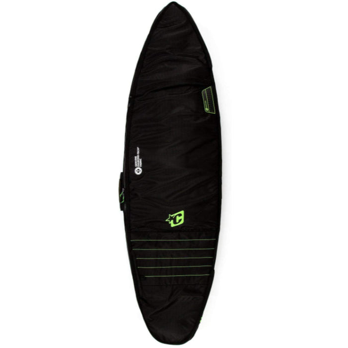Creatures Shortboard Double Cover 6ft - Black/Lime