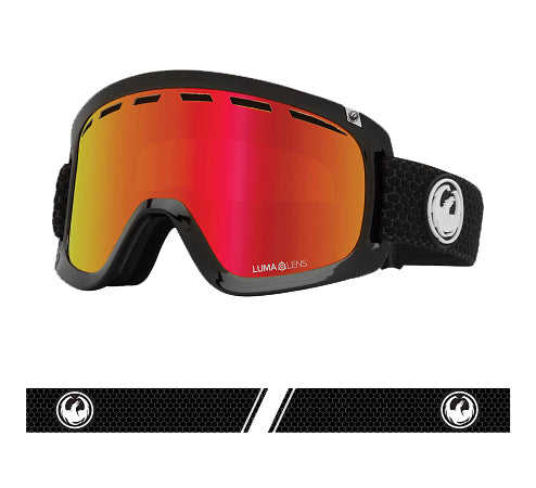 Dragon D1 OTG Goggle -Black/LL Red Ionised/LL Rose