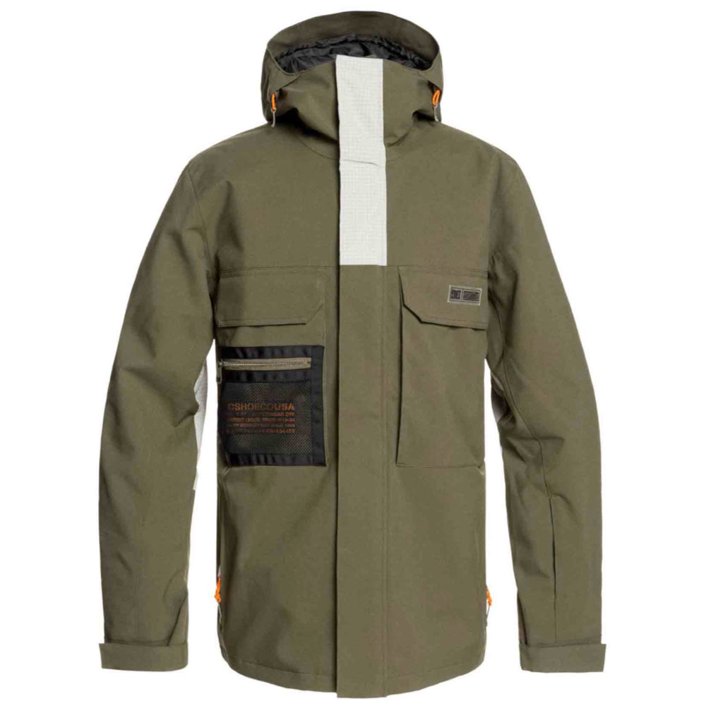 DC Defiant Jacket Mens - Olive Night