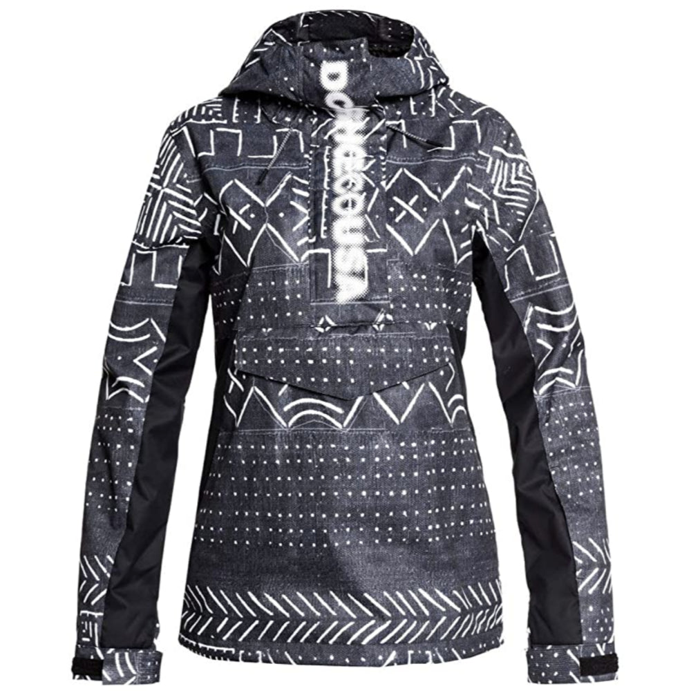 DC Envy Anorak Ladies - Black Mud Cloth Print
