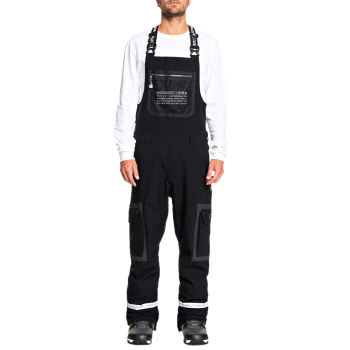 DC Revival Snow Bib Pants Mens - Black