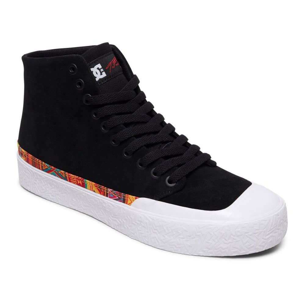DC T-Funk Hi S Shoe Mens - Black/White Print