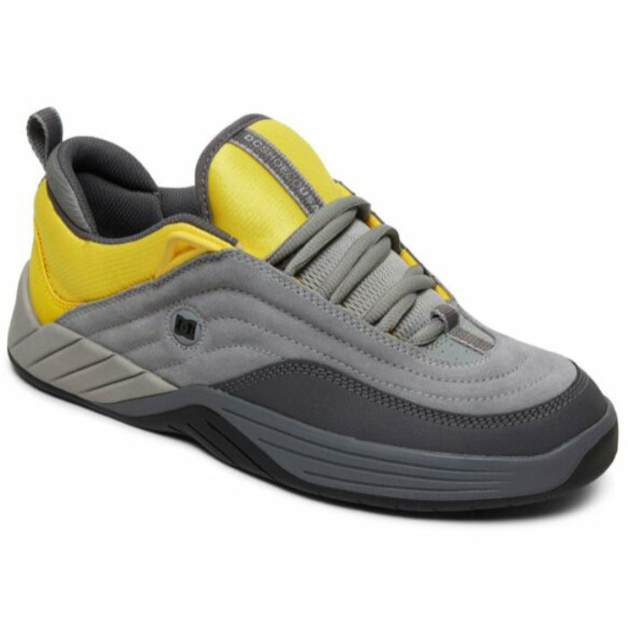 DC Williams Slim Mens Shoe - Grey/Yellow