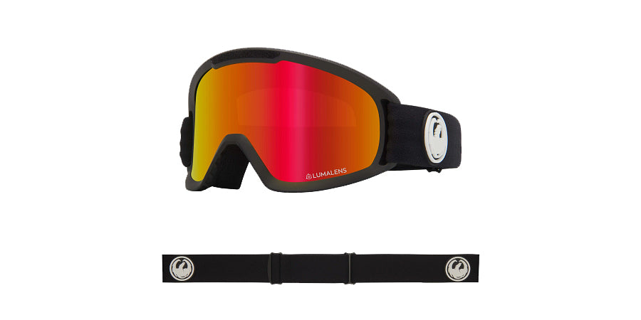 Dragon DX2 Goggle - Black/LL Red Ion and LL Rose