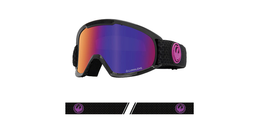 Dragon DX2 Goggle - Split/LL Purple Ionised/LL Amber
