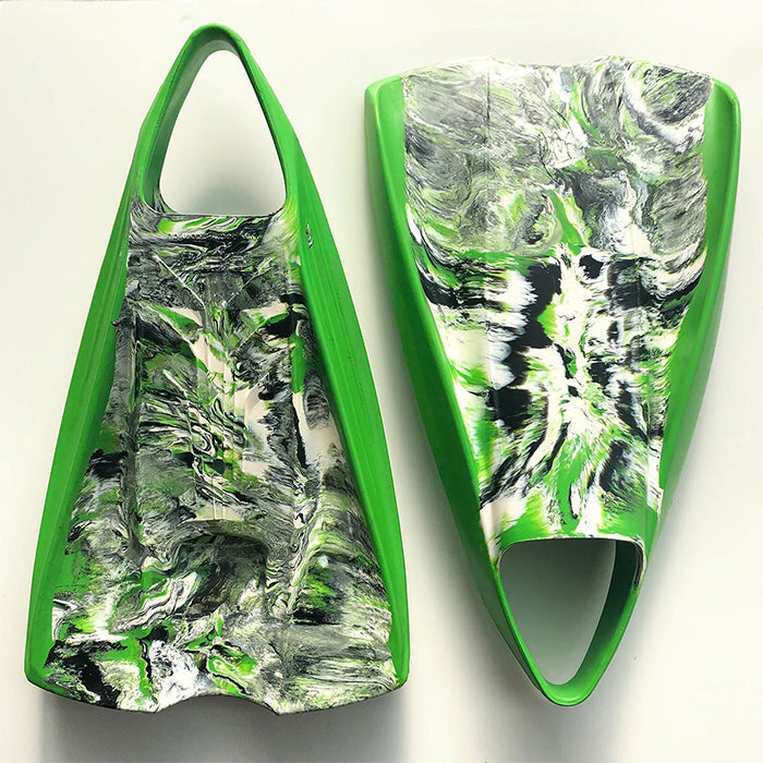 POD PF2 Fins - Green Black White
