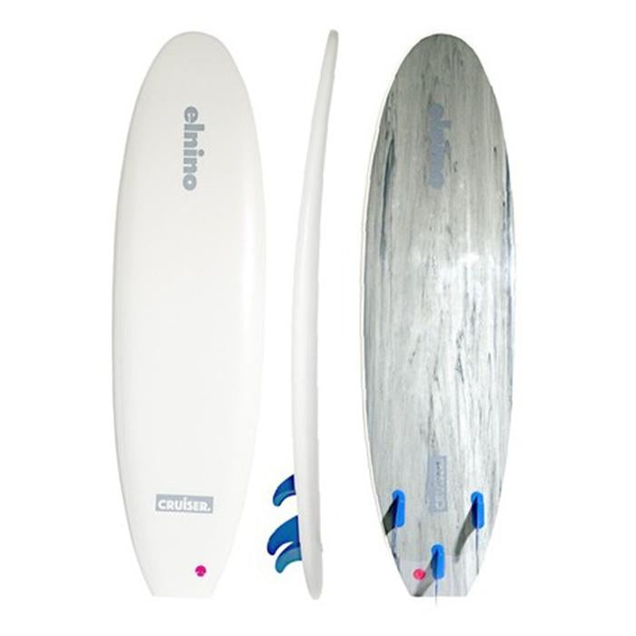Elnino Cruiser Softboard 6ft 6 - White - Extra Shipping Fees May Apply