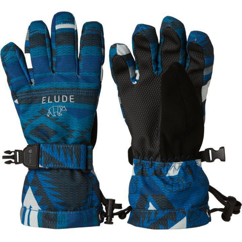 Elude Boys Maximise Gloves - Mountain Aztec Solidate Blue