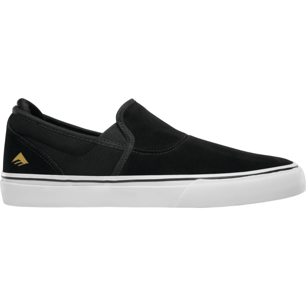 Emerica Wino G6 Slip-On Mens Shoe - Black/White/Gold