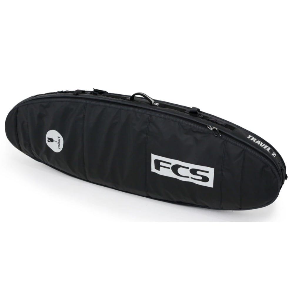 FCS Travel 2 6ft 7 Fun Board Bag - Black/Grey - STOCK INSTORE ONLY - CALL OR EMAIL