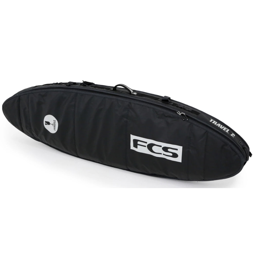FCS Travel 2 All Purpose Travel Cover 6ft 7 Surf Bag - Black Grey - STOCK INSTORE ONLY - CALL OR EMAIL