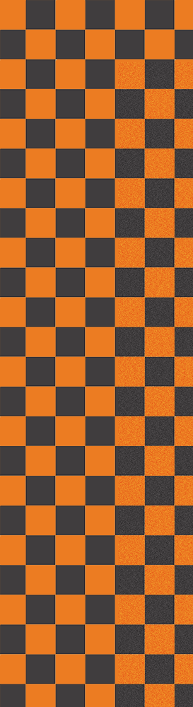 Fruity Griptape 9x33 - Black Orange Checkers Single Sheet