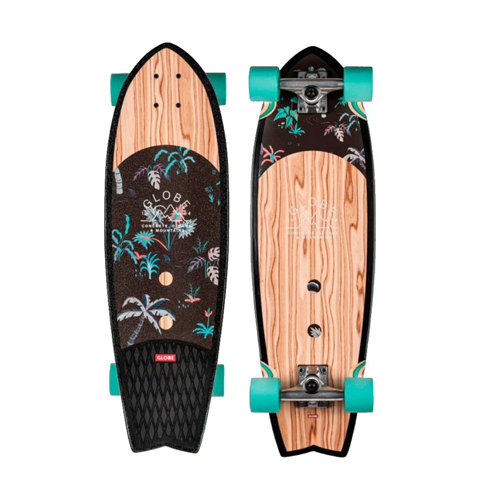 Globe Sun City 30 Skateboard - Olivewood/Neon Jungle