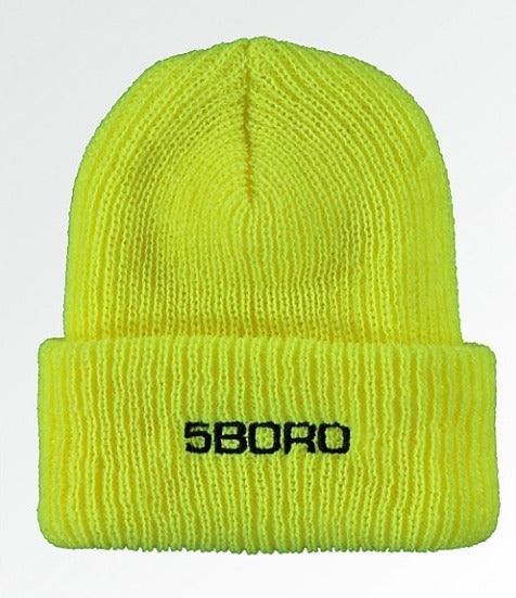 5Boro NYC 5B Beanie EXT Logo - Safety Yellow