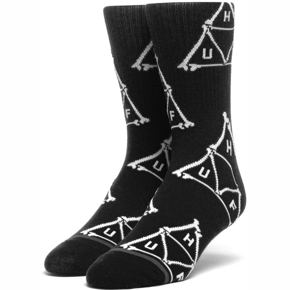 Huf Boner Triangle Sock - Black