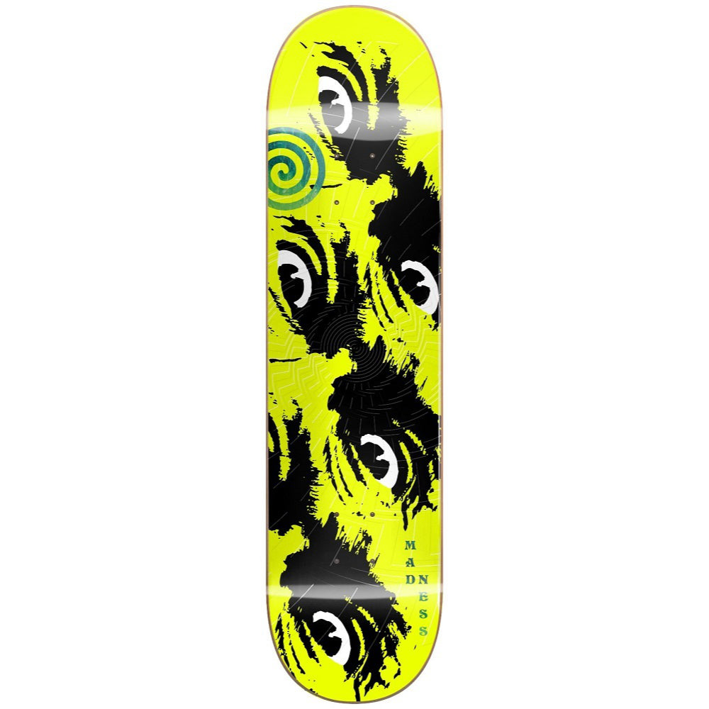 Madness Side Eye R7 Skateboard - 8.5 Neon Yellow