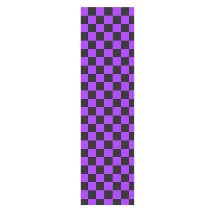Fruity Griptape 9x33 - Black/Purple Checkers Single Sheet