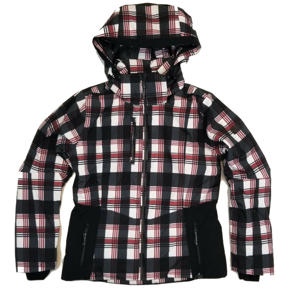 Nils Ester Jacket Print Womens - Plaid Black