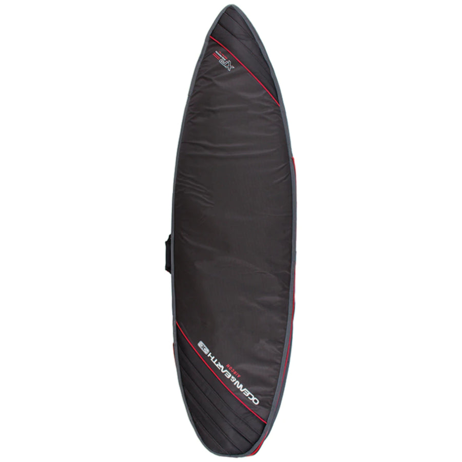 Ocean & Earth Aircon Shortboard Board Cover - Black/Red
