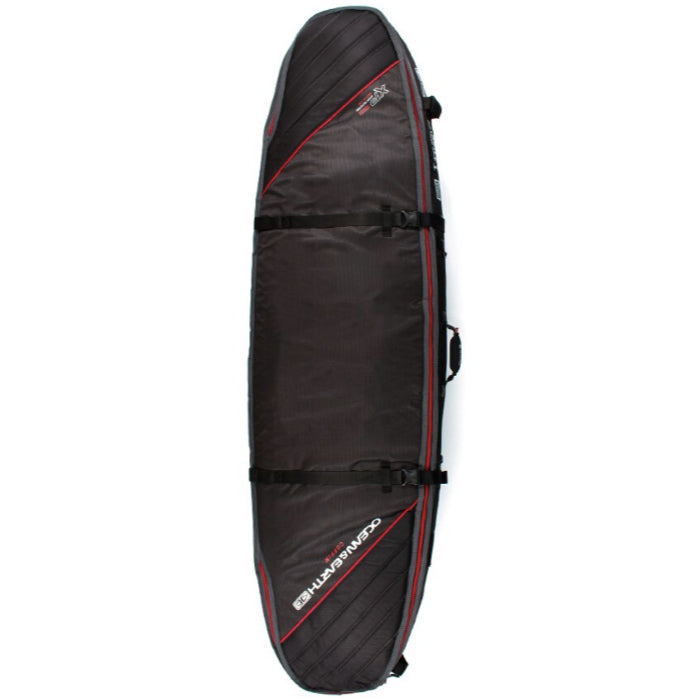 Ocean & Earth Triple Coffin Shortboard Board Cover - Black/Red - MEMBERS PRICE