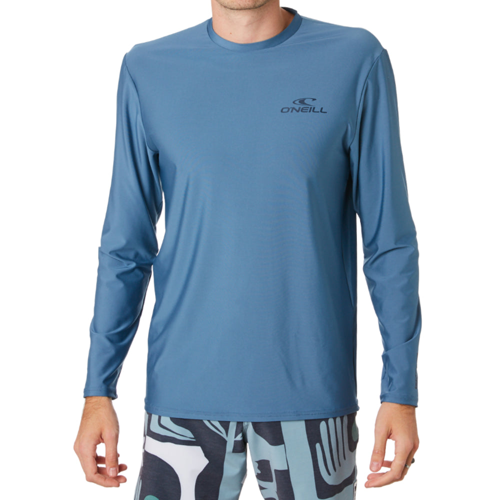 Oneill Basic Skins LS Rashie Tee Mens - Dusty Blue