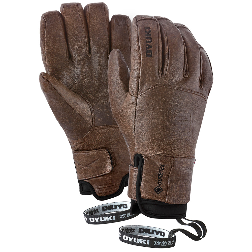Oyuki Sencho GTX Mens Ski Glove - Worn Brown