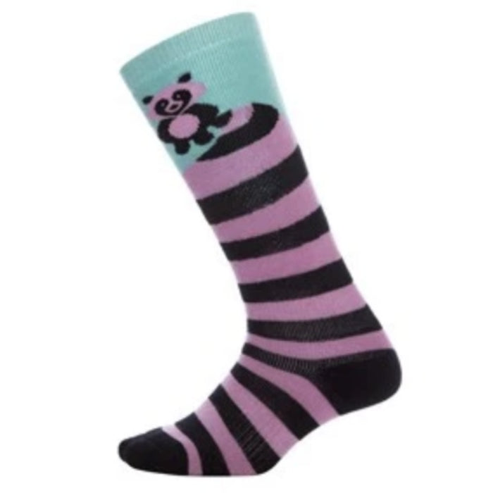 Oyuki Tanuki Sock Kids - Stripped Pink