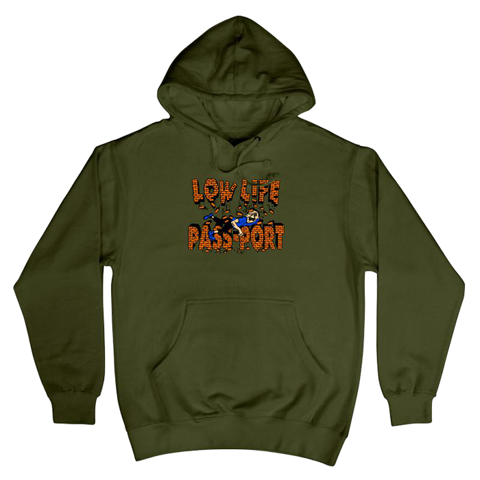 Passport L.L Brick Hoodie - Army Green