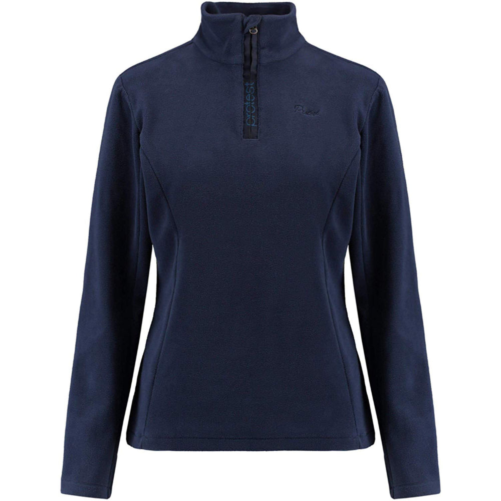 Protest Mutey 1/4 Zip Top Womens - Ground Blue