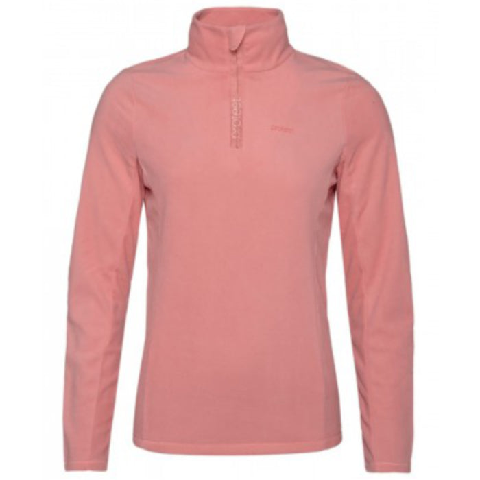 Protest Mutey 1/4 Zip Top Womens - Think Pink