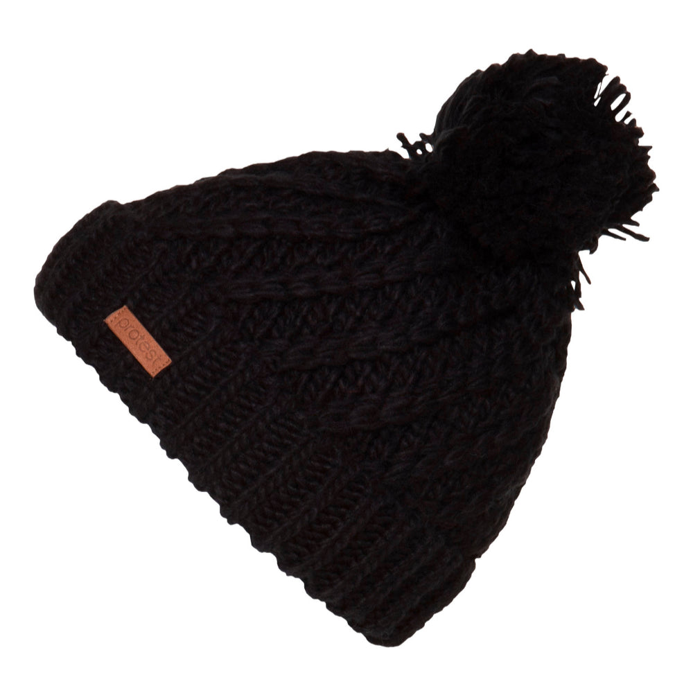 Protest Paisley Beanie - True Black